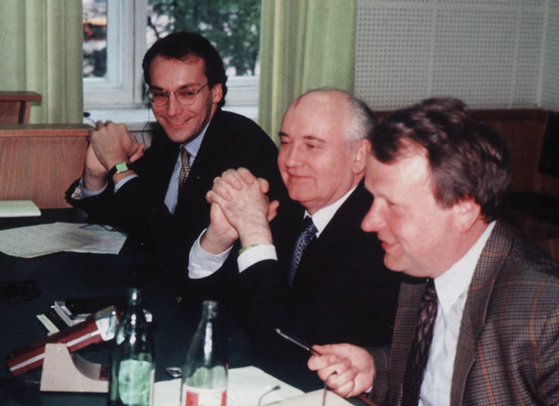 Timothy Phillips with Mikhail Gorbachev