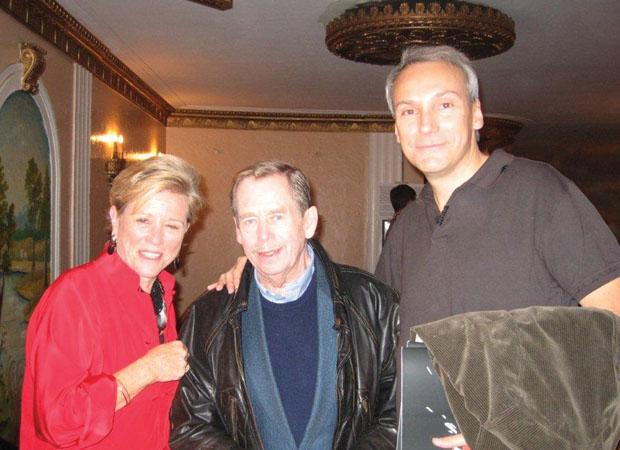 Timothy Phillips with Vaclav Havel and Beyond Conflict co-founder Wendy Luers