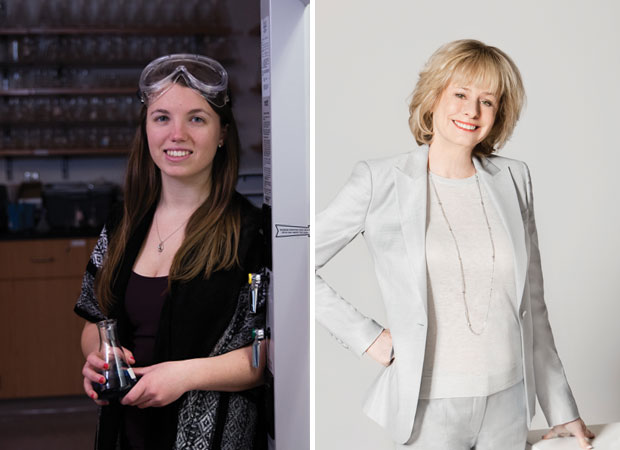 Emily Persson '15 and Dr. Kathy Reichs